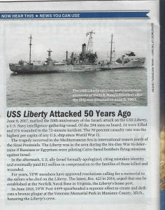 VFW Magazine Remembers USS Liberty 50th Anniversary of Attack